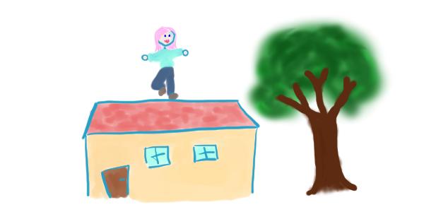 Alice sur son toit